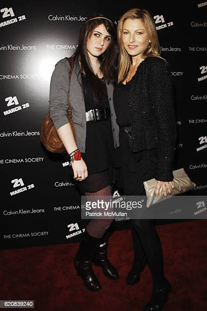 Emily McEnroe and Tatum O'Neal attend THE CINEMA SOCIETY and CALVIN KLEIN JEANS Host a Screening of 21 at IFC Center on March 26 2008 in New York City