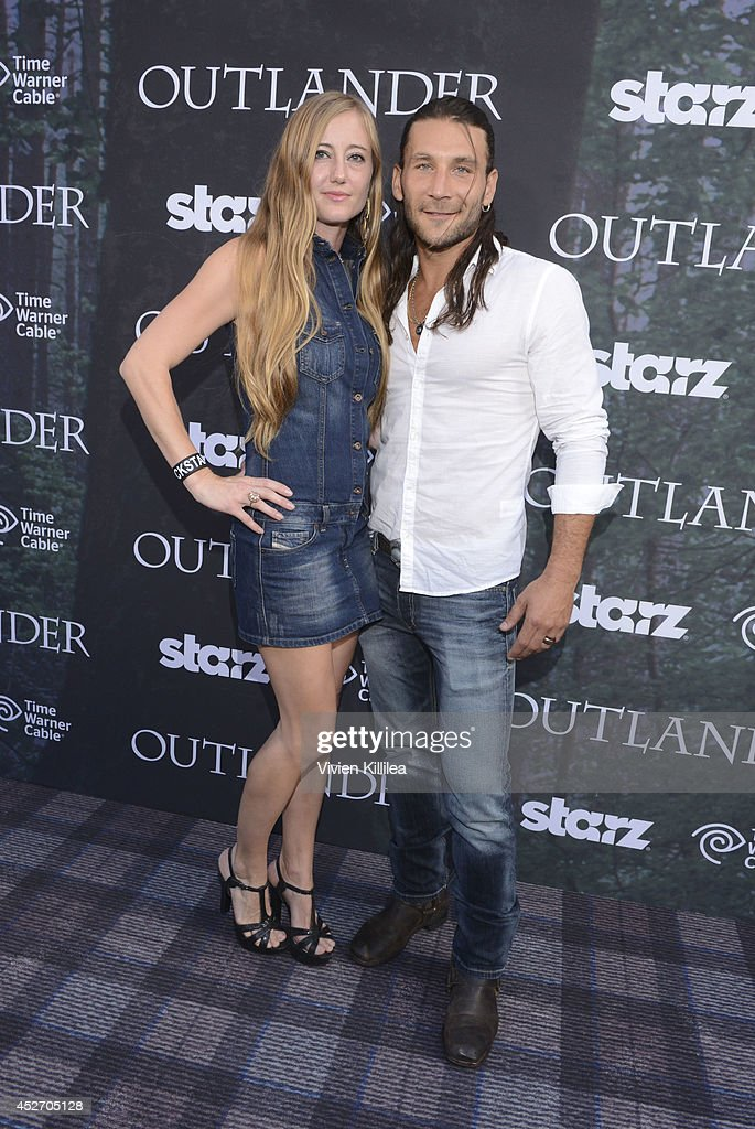 Emily McGowan and actor Zach McGowan attend the Starz Series 'Outlander' Premiere - Comic-Con International 2014 at Spreckels Theatre on July 25, 2014 in San Diego, California.