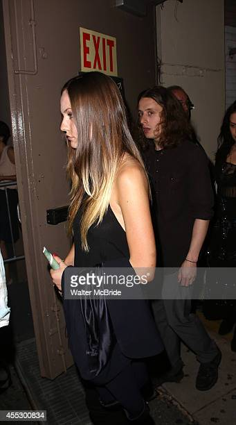 Emily Meade and Rory Culkin leaving the stage door after the opening night performance of 'This Is Our Youth' at the Cort Theatre on September 11...
