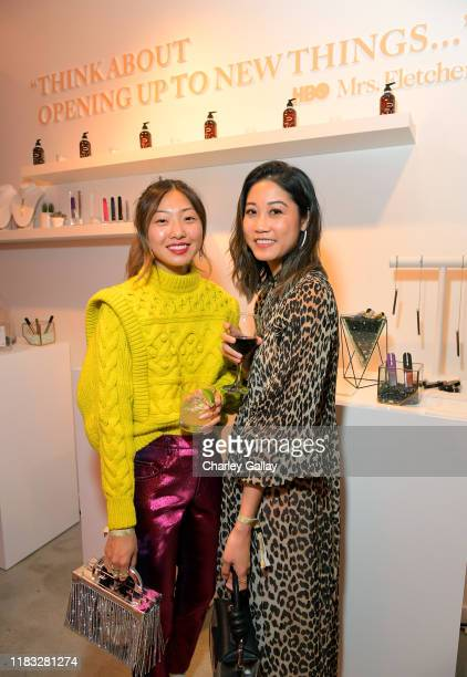 Emily Men and Joyce Men attend HBO's Mrs Fletcher PopUp Preview Party on October 24 2019 in West Hollywood California