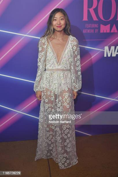 Emily Men attends a limited edition capsule presentation by Rodarte featuring artwork by Mari Eastman and hosted by Made and Mastercard at Milk...