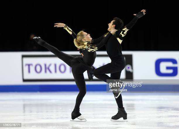 Emily Monaghan and Ilias Fourati of Hungary compete in the Ice Dance Free Skating program during the ISU Grand Prix of Figure Skating at the Orleans...