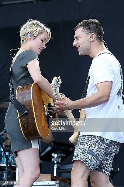 Emily Moore and Jack Antonoff of Fun. Perform on Day 1 of Austin City Limits Music Festival at Zilker Park on October 4, 2013 in Austin, Texas.