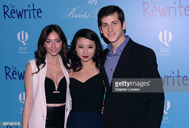 Emily Morden Annie Q and Steven Kaplan attend The Cinema Society And Brooks Brothers Host A Screening Of 'The Rewrite' at Landmark Sunshine Cinema on...
