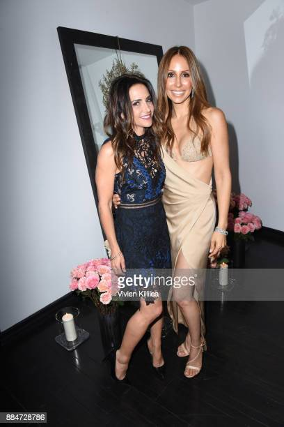 Emily Morse and founder and creative director of Nude Envie Isabel Madison attend Nude Envie Holiday/Launch Party Launching New Shades on December 2...
