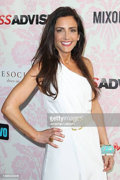 Emily Morse attends the Bravo's New DocuSeries Miss Advised Viewing Party Arrivals at Planet Dailies Mixology 101 on June 18 2012 in Los Angeles...