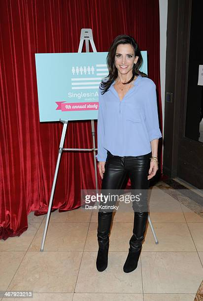 Emily Morse attends the Matchcom Dating Confessions panel hosted by Patti Stanger on February 8 2014 in New York City