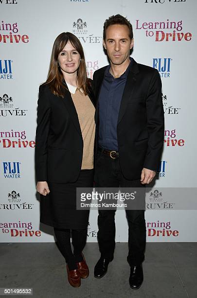 Emily Mortimer and Alessandro Nivola attend A Celebration for Patricia Clarkson Presented by FIJI Water and Truvee Wines on December 15 2015 in New...