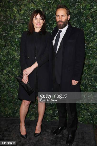 Emily Mortimer and Alessandro Nivola attend a pre BAFTA party hosted by Charles Finch and Chanel at Annabel's on February 11 2017 in London England