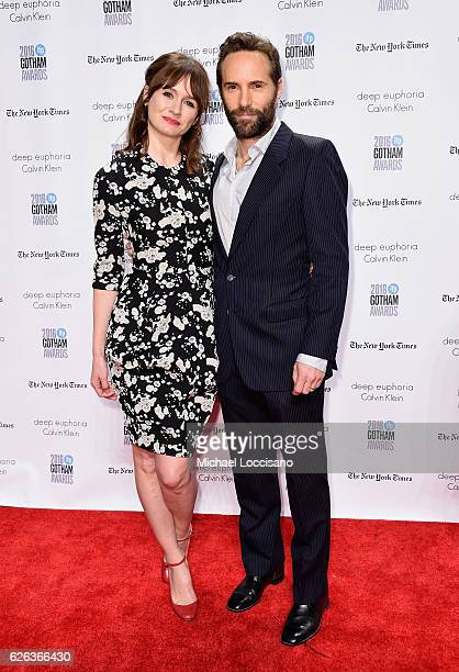 Emily Mortimer and Alessandro Nivola attend the 26th Annual Gotham Independent Film Awards at Cipriani Wall Street on November 28 2016 in New York...