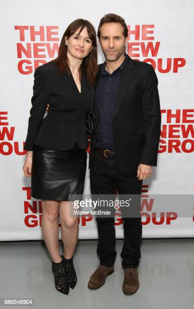 Emily Mortimer and Alessandro Nivola attend the The New Group World Premiere of Hamish Linklater's 'The Whirligig' at Green Fig's Social Drink and...