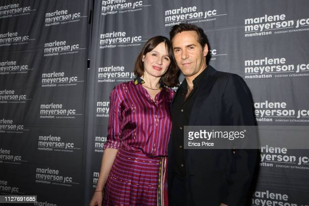 Emily Mortimer and Alessandro Nivola attend 'To Dust' New York Screening at The JCC on February 05, 2019 in New York City.