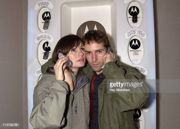 Emily Mortimer and Alessandro Nivola during 2003 Park City The Motorola and Air Party Party at The Motorola House in Park City Utah United States