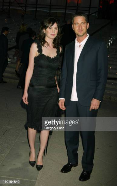 Emily Mortimer and Gerard Butler during 3rd Annual Tribeca Film Festival Vanity Fair Party at The State Supreme Courthouse in New York City New York...