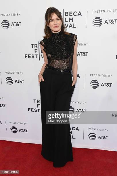 Emily Mortimer attends a screening of To Dust during the 2018 Tribeca Film Festival at SVA Theatre on April 22 2018 in New York City