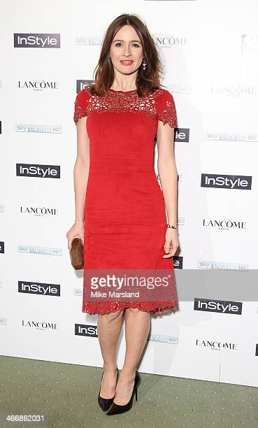 Emily Mortimer attends InStyle magazine's The Best of British Talent preBAFTA party at Dartmouth House on February 4 2014 in London England