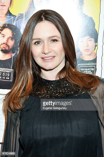 """Emily Mortimer attends the premiere of """"City Island"""" at The Directors Guild of America Theater on March 10, 2010 in New York City."""