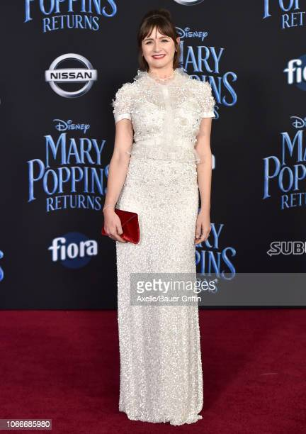 Emily Mortimer attends the premiere of Disney's 'Mary Poppins Returns' at El Capitan Theatre on November 29 2018 in Los Angeles California