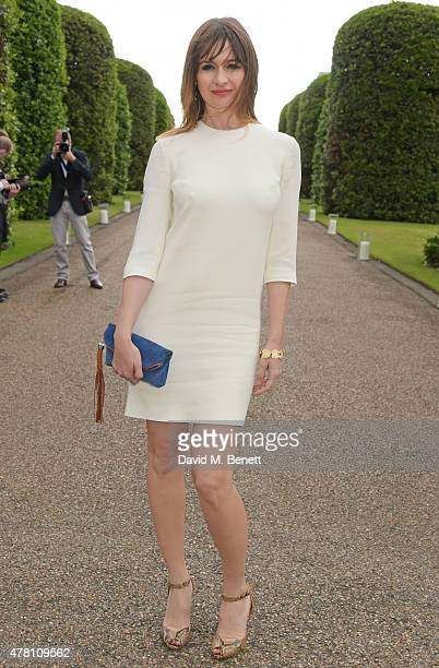 Emily Mortimer attends The Ralph Lauren Vogue Wimbledon Summer Cocktail Party hosted by Alexandra Shulman and Boris Becker at The Orangery at...