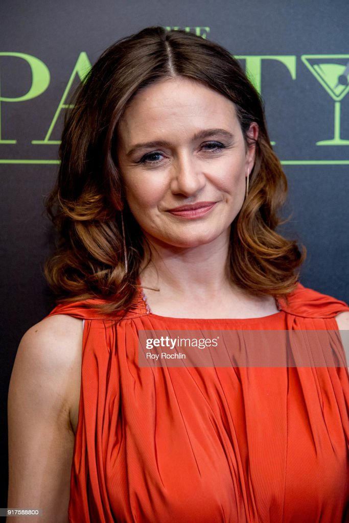 Emily Mortimer attends the screening of 'The Party' hosted by Roadside Attractions and Great Point Media with The Cinema Society at Metrograph on February 12, 2018 in New York City.