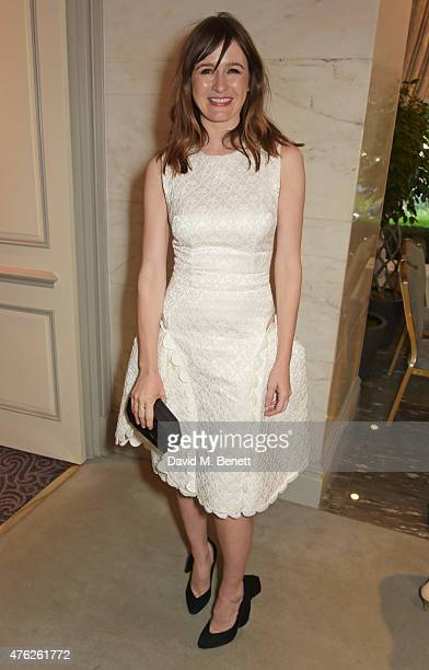Emily Mortimer attends the South Bank Sky Arts awards at The Savoy Hotel on June 7 2015 in London England