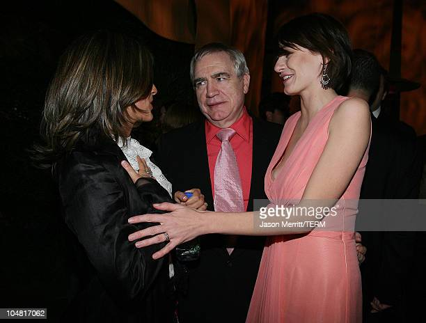 Emily Mortimer Brian Cox and Elizabeth Banks during Match Point Los Angeles Premiere After Party at LACMA in Hollywood California United States