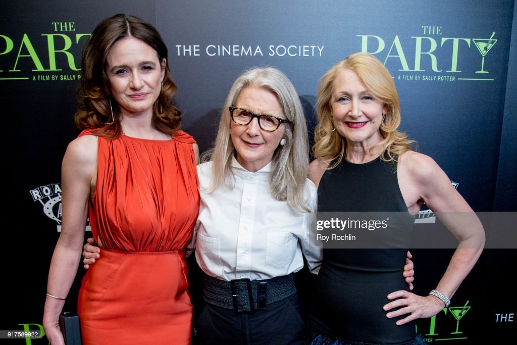Emily Mortimer, director Sally Potter and Patricia Clarkson attends the screening of 'The Party' hosted by Roadside Attractions and Great Point Media with The Cinema Society at Metrograph on February 12, 2018 in New York City.