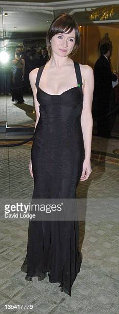 Emily Mortimer during 2005 Awards of the London Film Critics Circle at The Dorchester in London, Great Britain.