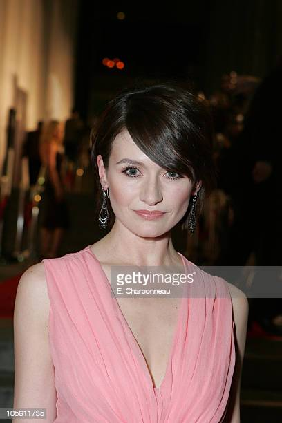 """Emily Mortimer during Dreamworks' """"Match Point"""" Los Angeles Premiere at LACMA in Los Angeles, California, United States."""