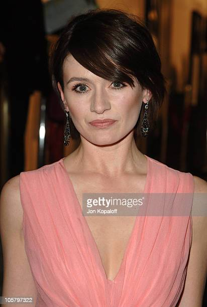"""Emily Mortimer during DreamWorks Pictures' """"Match Point"""" Los Angeles Premiere - Red Carpet at LACMA in Los Angeles, California, United States."""