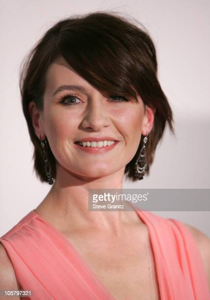 """Emily Mortimer during """"Match Point"""" Los Angeles Premiere - Arrivals in Los Angeles, California, United States."""