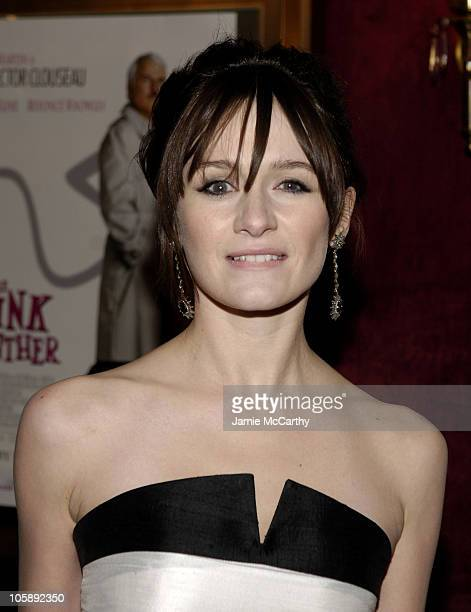 """Emily Mortimer during """"The Pink Panther"""" World Premiere - Inside Arrivals at Ziegfeld Theater in New York City, New York, United States."""