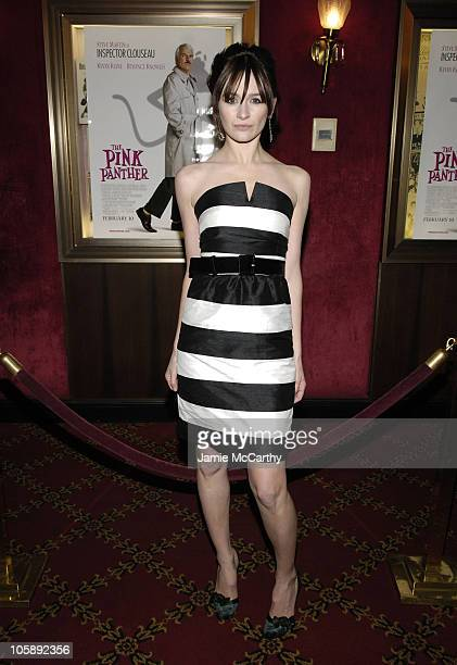 Emily Mortimer during The Pink Panther World Premiere Inside Arrivals at Ziegfeld Theater in New York City New York United States