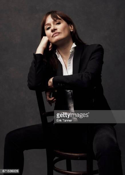 Emily Mortimer from 'Broken Night' poses at the 2017 Tribeca Film Festival portrait studio on April 21, 2017 in New York City.