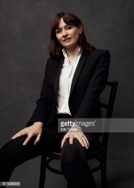 Emily Mortimer from 'Broken Night' poses at the 2017 Tribeca Film Festival portrait studio on April 21 2017 in New York City