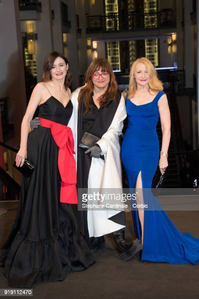 Emily Mortimer Isabel Coixet and Patricia Clarkson attend the 'The Bookshop' premiere during the 68th Berlinale International Film Festival Berlin at...