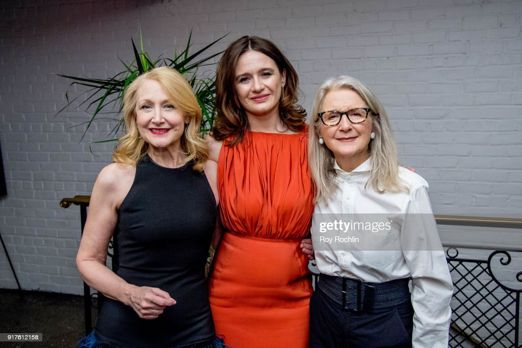 Emily Mortimer, Patricia Clarkson and Sally Potter attend the screening after party for 'The Party' hosted by Roadside Attractions and Great Point Media with The Cinema Society at Metrograph on February 12, 2018 in New York City.