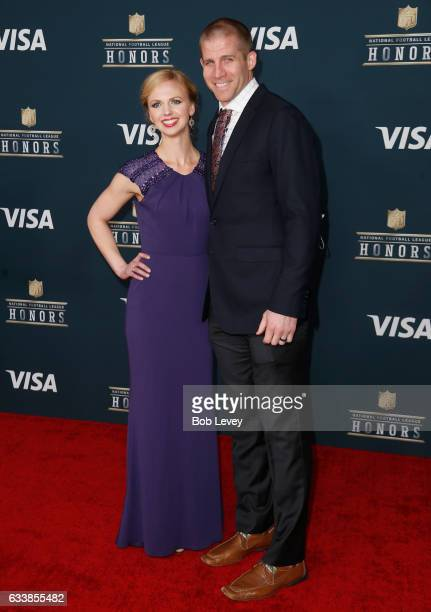 Emily Nelson and NFL player Jordy Nelson attend the 6th Annual NFL Honors at Wortham Theater Center on February 4 2017 in Houston Texas