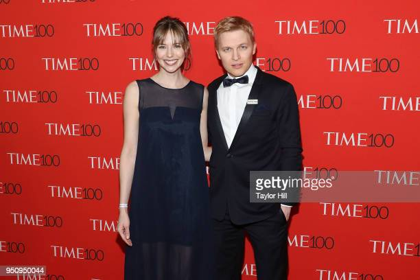 Emily Nestor and Ronan Farrow attend the 2018 Time 100 Gala at Frederick P Rose Hall Jazz at Lincoln Center on April 24 2018 in New York City