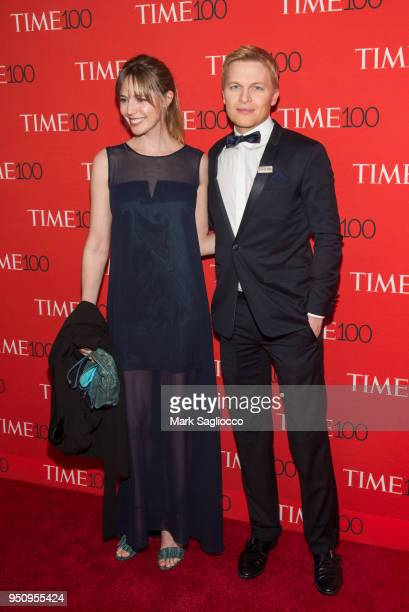 Emily Nestor and Ronan Farrow attend the 2018 Time 100 Gala at Frederick P. Rose Hall, Jazz at Lincoln Center on April 24, 2018 in New York City.