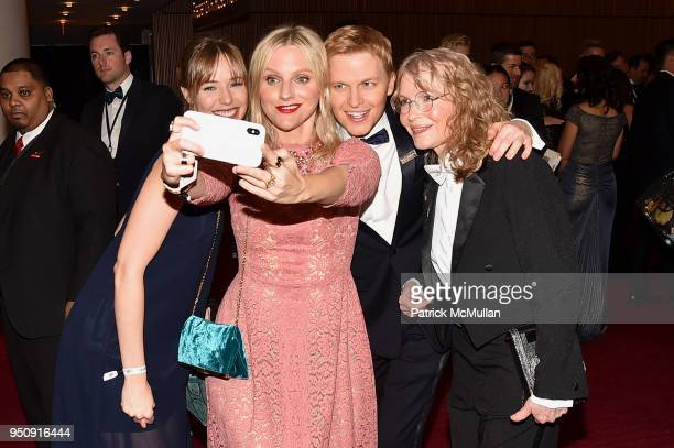 Emily Nestor Laura Brown Ronan Farrow and Mia Farrow attend the 2018 TIME 100 Gala at Jazz at Lincoln Center on April 24 2018 in New York City