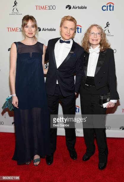 Emily Nestor Ronan Farrow and Mia Farrow attend the 2018 Time 100 Gala at Jazz at Lincoln Center on April 24 2018 in New York City