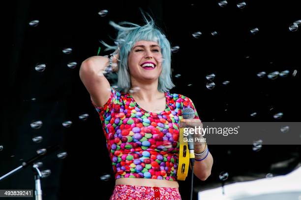Emily Nokes of Tacocat performs at the Sasquatch Music Festival at The Gorge on May 25 2014 in George Washington