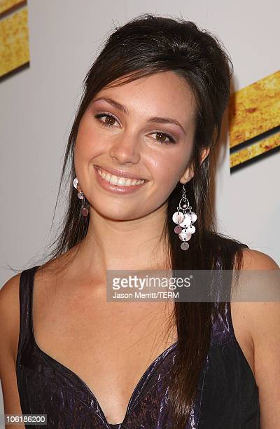 Emily O'Brien arrives at the premiere of Summit Entertainment's 'Never Back Down' at the Cinerama Dome on March 4 2008 in Hollywood California