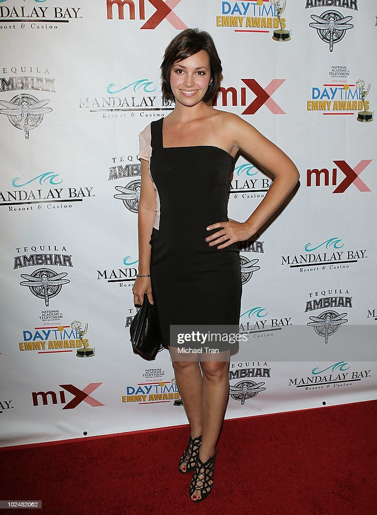 Emily O'Brien arrives to the 2010 Daytime Emmy Awards Official Pre-Party held at miX Lounge - THEhotel at Mandalay Bay on June 26, 2010 in Las Vegas, Nevada.