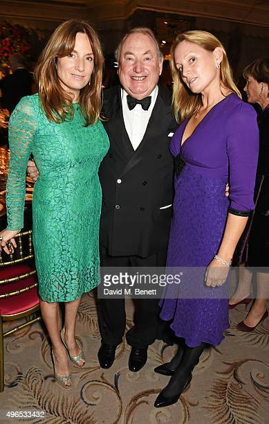 Emily Oppenheimer Anthony Oppenheimer and Sophie Oppenheimer Lussier attend the 25th Cartier Racing Awards at The Dorchester on November 10 2015 in...