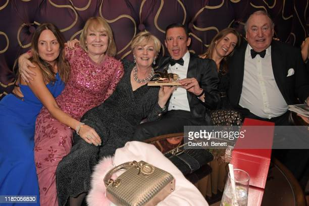 Emily Oppenheimer guest Lady Madeleine Lloyd Webber Frankie Dettori Catherine Dettori and Anthony Oppenheimer attend The 29th Cartier Racing Awards...