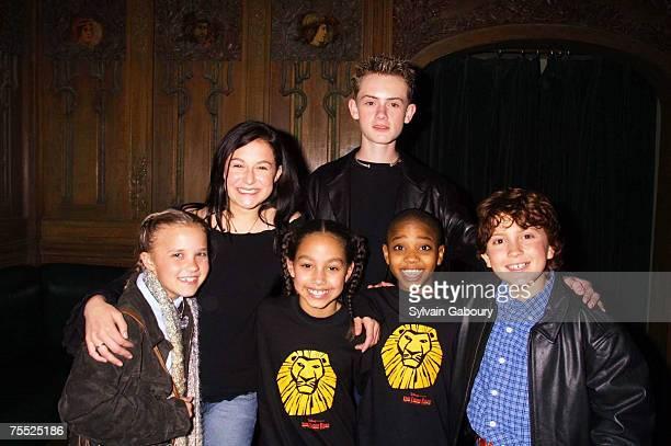 Emily Osment Alexa Vega Matt O'Leary Daryl Sabara Danielle Larra Rodney Henry at the Spy Kids stars and stars of Broadway's The Lion King hang out...
