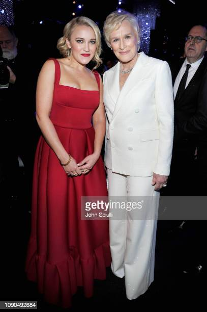 Emily Osment and Glenn Close attend the 25th Annual Screen Actors Guild Awards at The Shrine Auditorium on January 27 2019 in Los Angeles California...