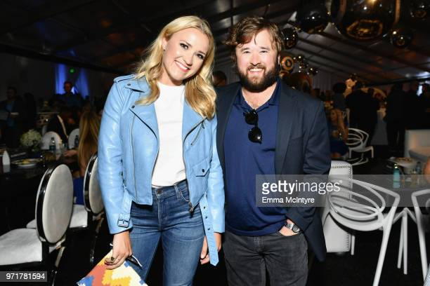 Emily Osment and Haley Joel Osment attend the Fourth Annual Los Angeles Dodgers Foundation Blue Diamond Gala at Dodger Stadium on June 11 2018 in Los...